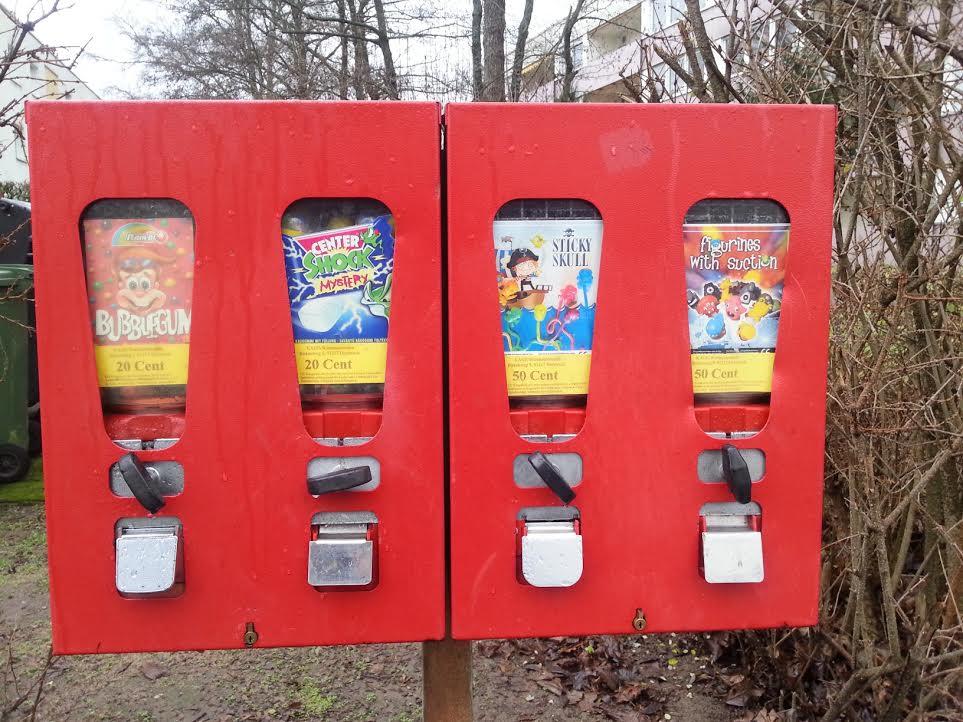 Kaugummi und Süßigkeiten-Automat